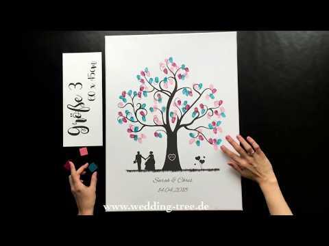 Wedding Tree - verschiedene Leinwandgrößen