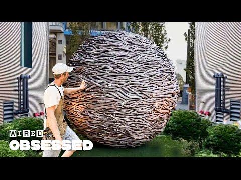 Weaving Wooden Sculptures