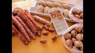 Заморозка еды на неделю за 1 час! Топ-5 полуфабрикатов из фарша / Рецепты Другой Кухни