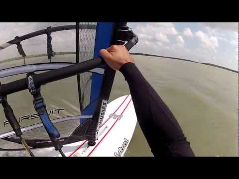 Juan Windsurfing Mistral Prodigy Board and Pursuit Sail 7.5 Meters