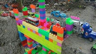 Cara Membut Jembatan Dari  Lego Block|mobil Bus Tayo|toys And Kids.