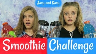 4th of July ~ SMOOTHIE CHALLENGE ~ Jacy and Kacy