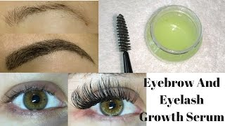 Grow Long, Thick & Strong Eyebrows & Eyelashes In Just 5 Days | DIY Eyelash & Eyebrows Growth Serum