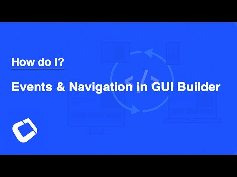 Handle Events/Navigation In The GUI Builder & Populate The Form From Code