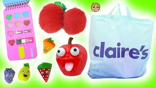 Giant Claire's Haul - The Cutest Food Items Ever!! Ice Cream Makeup, Shopkins , BFF Key Chain + More