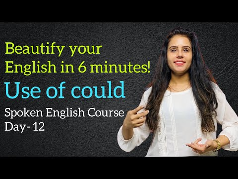 Spoken English Course- Day 12   Use of Could   Rules + Examples