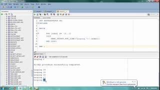 Looping in Oracle PLSQL