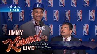 Jimmy Kimmel Talks to Philadelphia 76ers #1 NBA Draft Pick Markelle Fultz