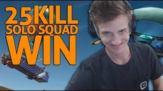 Amazing 25 Kill Solo Squad Win - Fortnite Gameplay - Ninja