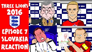 REACTION! Slovakia Vs England 0-0 (Russia Vs Wales 0-3) (Euro 2016 Cartoon Highlights)