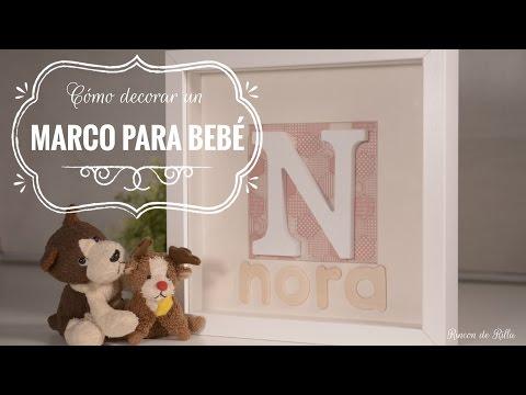 BEBE Home decor. Marco para habitación de bebé. Decoracion bebe.Decorar marco RIBBA FÁCIL.