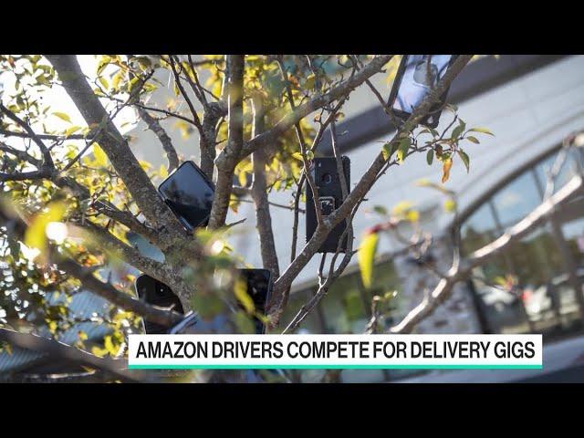 Курьеры Amazon развешивают телефоны на деревьях, чтобы получить больше заказов