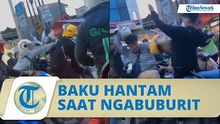 Viral Video 2 Pengendara Motor Baku Hantam di Tengah Jalan saat Macet Jelang Buka Puasa di Bandung