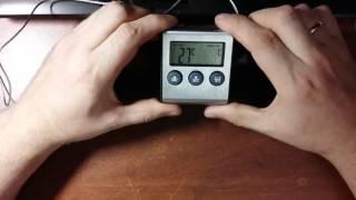 Пищевой колбасный термометр с зондом и таймером от компании Alexel - видео