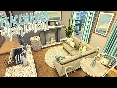 Peacemaker Apartment \ CC Showcase || The Sims 4 Apartment Renovation: Speed Build