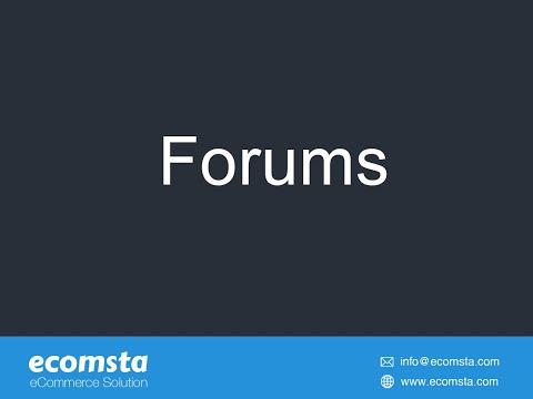 Forums - eCommerce Script