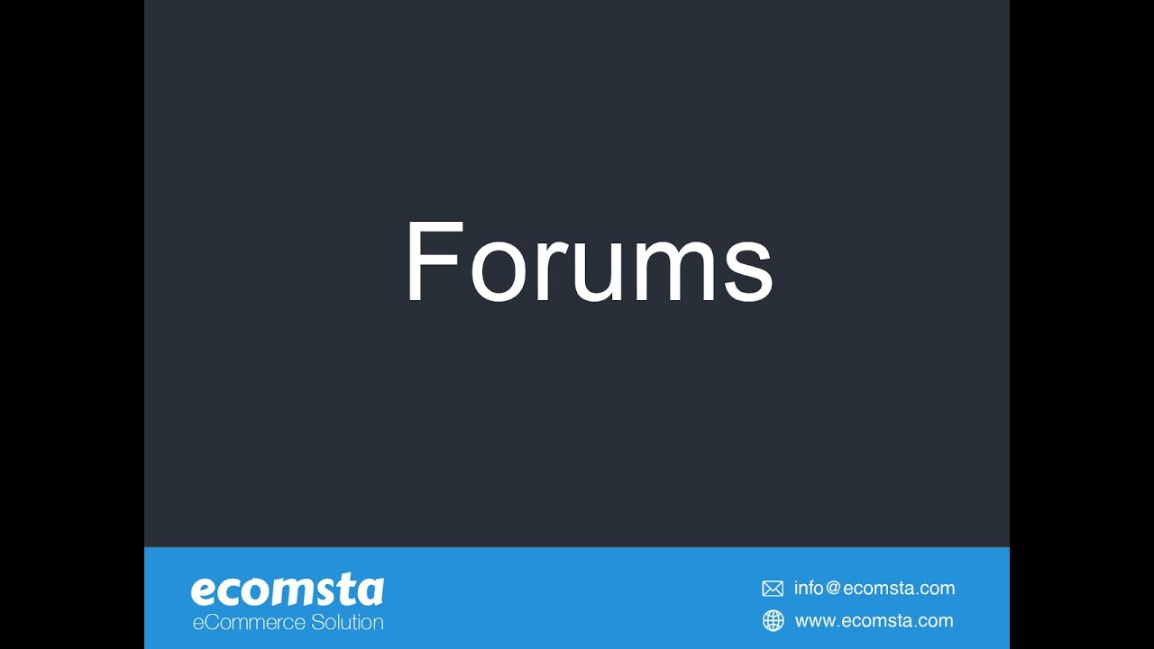 How to have discussion forums in eComsta?