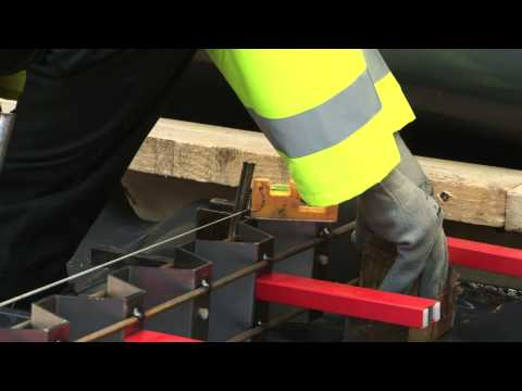 Permaban Signature installation guide, demonstrating the pin and weld method