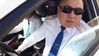 Подполковник нарушитель чуть не сбил Руслана Жанпеисова.