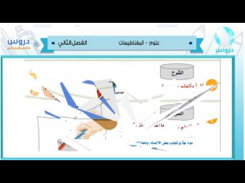 الثاني الابتدائي | الفصل الدراسي الثاني 1438 | علوم |المغناطيسيات