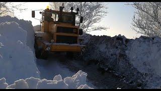 Трактор Кировец. Дорога домой. Пробираюсь по зимней степи.