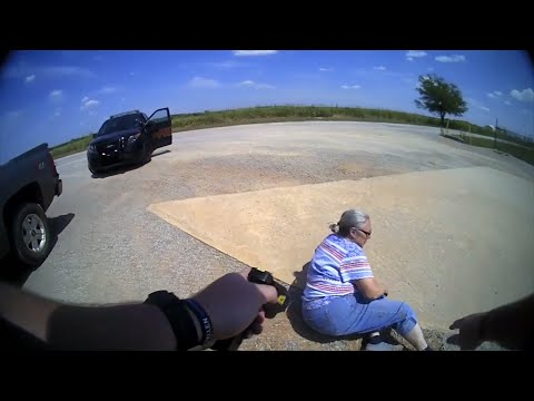 Body camera video shows a police officer shooting a 65-year-old Oklahoma woman with a stun gun after she allegedly refused to sign a ticket for a broken taillight, driving away and then kicking the officer while she is taken into custody. (Aug. 1)