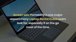 What are the Tips for Laptop Rental Service in Dubai?