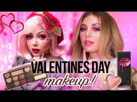 ALL PINK VALENTINES DAY MAKEUP COLLAB WITH CHARISMA STAR Victoria Lyn
