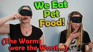 Blindfolded PET FOOD Eating Challenge!!