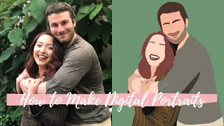 How To Make A Digital Portrait Illustration With Procreate   How I Use My IPad  To Illustrate People