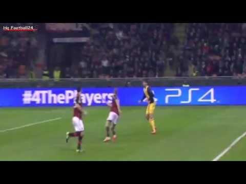 Diego Costa amazing Bicycle Kick ~ AC Milan vs Atletico Madrid ( 19/02/2014 ) HD