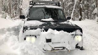 Очень много снега! Сильный снегопад!