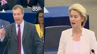 Nigel Farage CLASHES with Ursula von der Leyen: 'Thank God we're leaving!' (16th July 2019)
