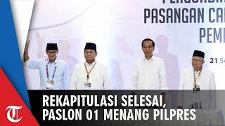 Rekapitulasi Nasional Selesai, Jokowi-Ma'ruf Menang Pilpres 2019, Ini Perolehan Suara di 34 Provinsi