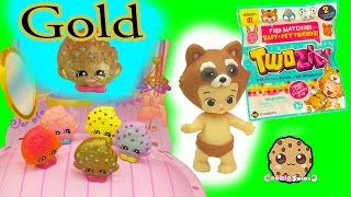 Shopkins Exclusive Gold Kooky Cookie Swapkins Party Season 5 Pack + Twozies Baby Blind Bags