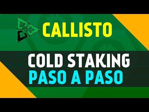 COMO HACER EL COLD STAKING DE CALLISTO PASO A PASO