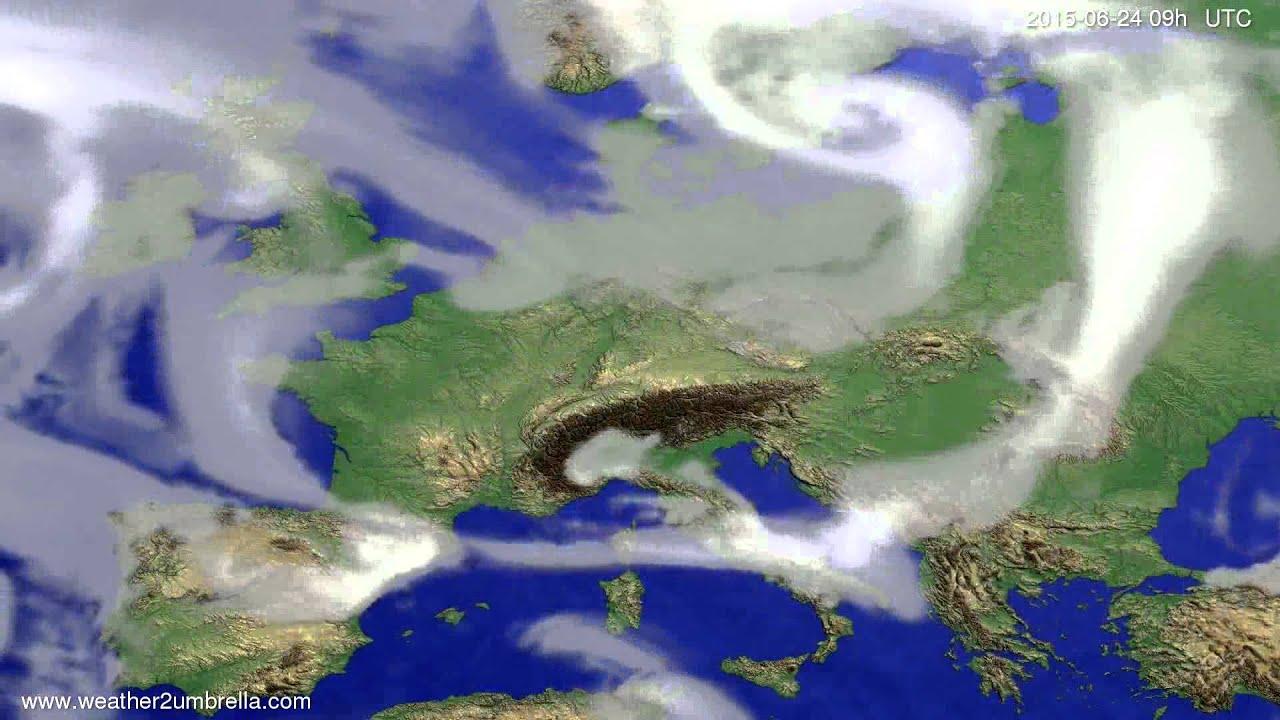 Cloud forecast Europe 2015-06-20