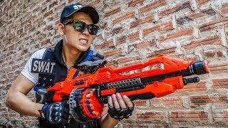 LTT Game Nerf War : Police Patrol Warriors SEAL X Nerf Guns Fight Inhuman Group Peacekeeping