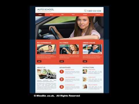 Cars related web design samples ( MixoBiz )