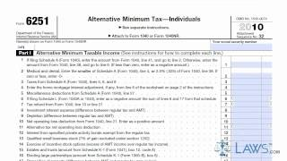 Learn How To Fill The Form 6251 Alternative Minimum Tax By Individual