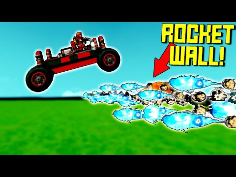 We Try to Jump Cars Over Deadly Walls of Rockets! - Scrap Mechanic Multiplayer Monday
