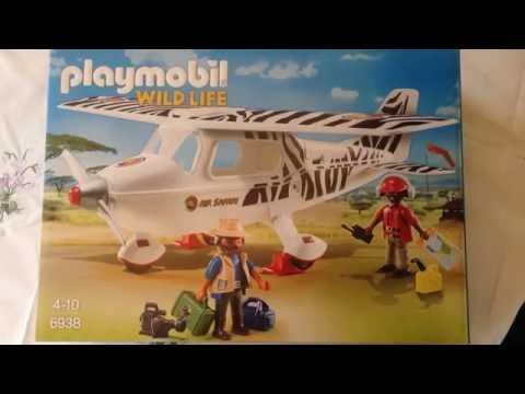 PLAYMOBIL wild life - avion de brousse - safari - reporter