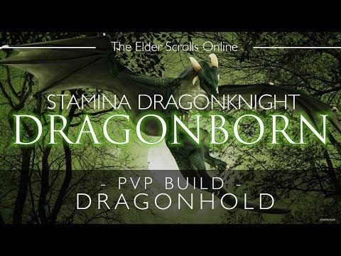 ESO Stamina Dragonknight PvP Build & Gameplay - Dragonborn - Dragonhold