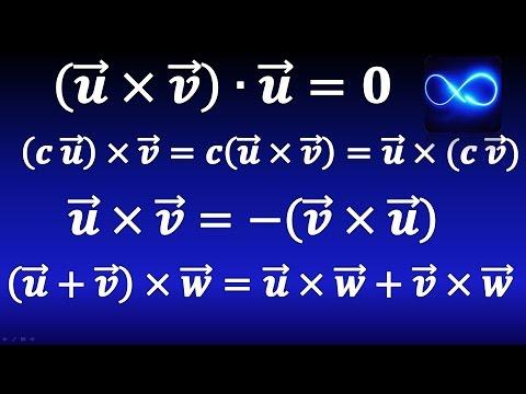 41. Propiedades del producto cruz, con demostraciones | Cálculo vectorial