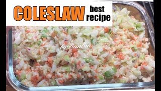 COLESLAW ORIGINAL RECIPE/ THE BEST HEALTHY COLESLAW by:Lian Lim
