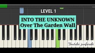 piano lesson into the Unknown - over the garden wall piano easy level 1