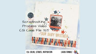 Scrapbooking Process Video - CSI Colour Stories Inspiration - Red, White And Blue