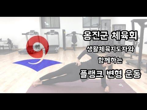 옹진군체육회 - 플랭크 변형 운동