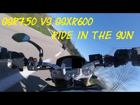 Gsr750 vs Gsxr600 Ride in the sun