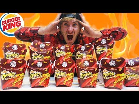 BURGER KING FLAMIN' MAC N' CHEETOS CHALLENGE | 12 BOXES